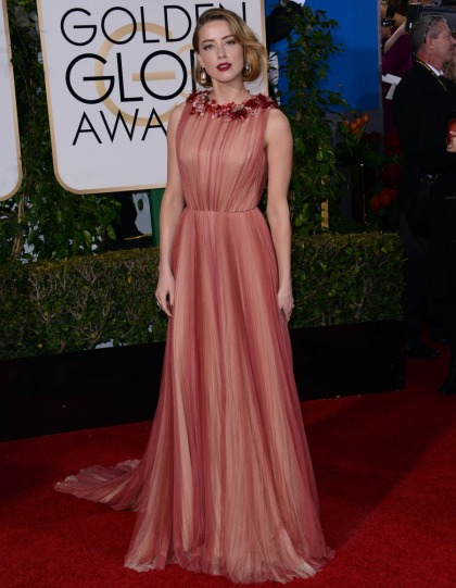 Amber Heard in Gucci at the Golden Globes: lovely, shiny or unmemorable?
