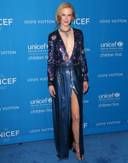 Nicole Kidman in plunging Louis Vuitton at the UNICEF Ball: pretty or tragic?