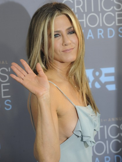 Jennifer Aniston rolled up to the Critics Choice Awards with 'two burly bodyguards'