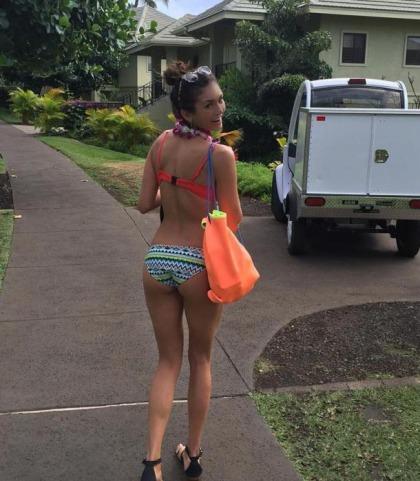 Nina Dobrev's Booty In A Bikini On Instagram