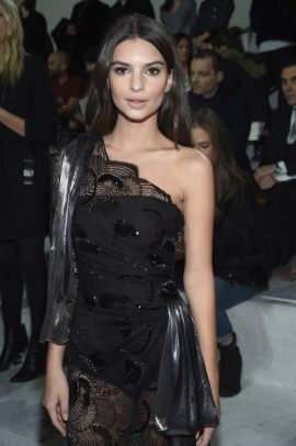Emily Ratajkowski Flaunts  in Ultra-sheer at Marc Jacobs NY Fashion Week show