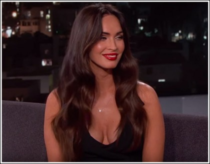 Megan Fox Drops Sexy Some Cleavage On Jimmy Kimmel