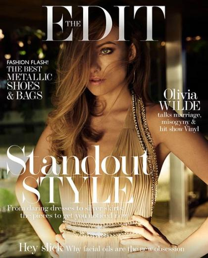 Olivia Wilde Glams Up The Edit's Latest Cover