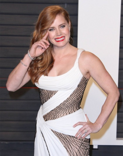 Amy Adams in Versace at the VF Oscar Party: hot or bad color combo?