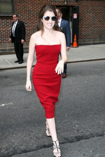 Anna Kendrick Red Hot Visits The Late Show with Stephen Colbert
