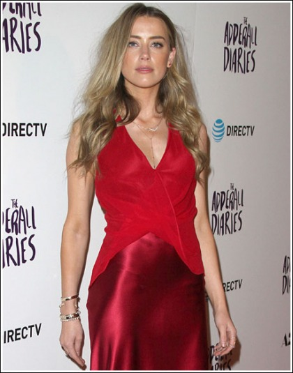 Amber Heard Looking All Kinds Of Red Hot And Chesty