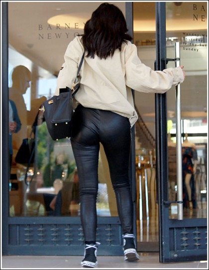 Kylie Jenner Gets Bootylicious In Skin-Tight Leather Pants