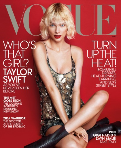 Taylor Swift covers Vogue, talks Calvin Harris, Kanye West & girl squads