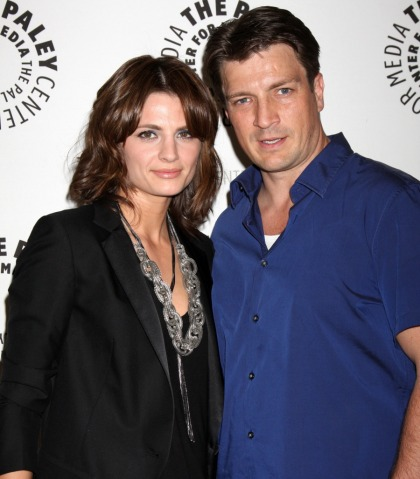 Stana Katic is leaving 'Castle' because she & Nathan Fillion hate each other