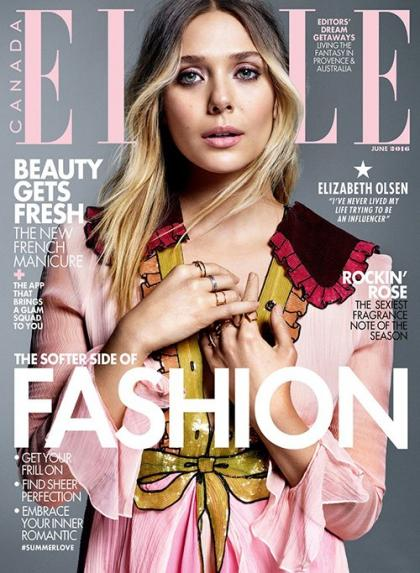 Elizabeth Olsen Radiates Beauty on ELLE Canada's June 2016 Cover