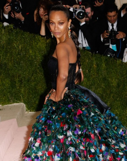 Zoe Saldana in Dolce & Gabbana at the Met Gala: impressive or overdone?