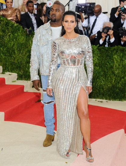 Kim Kardashian in silver Balmain at the Met Gala: surprisingly great?