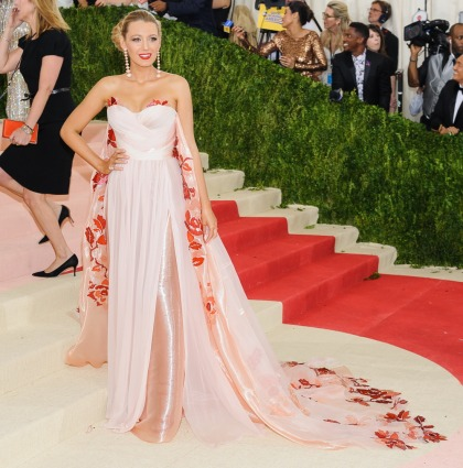 Blake Lively in Burberry at the Met Gala: stunning or poorly styled?