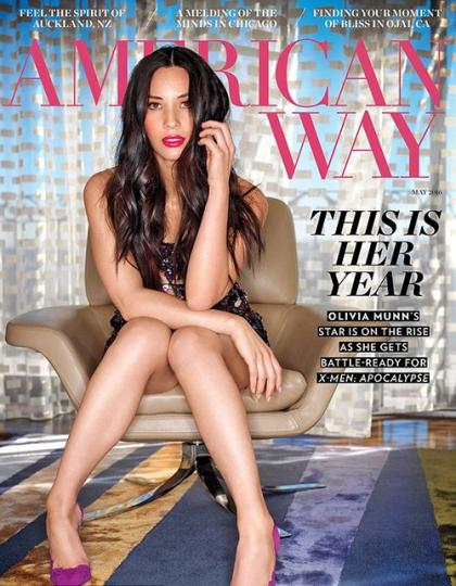 Olivia Munn Sizzles on American Way Magazine May 2016 Cover