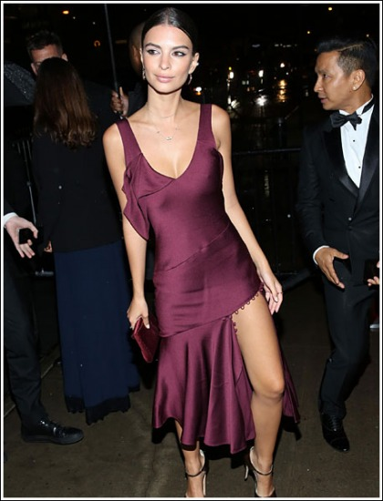 Emily Ratajkowski Gets Seriously Sexy, And Cleavagy, And Leggy, Oh My!