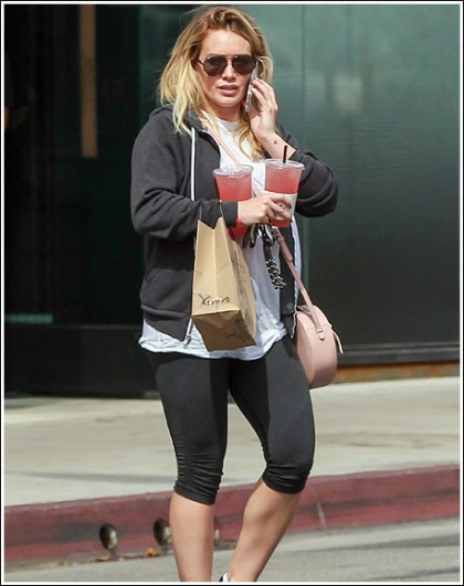 Hilary Duff Struts Her Groovy Legs And Curves In Tight Workout Leggings
