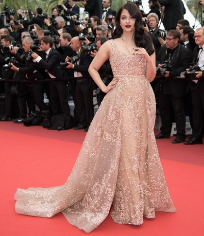 Aishwarya Rai in Elie Saab & Ali Younes at Cannes: too beige-y or beautiful?