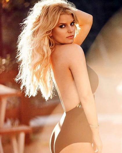 Jessica Simpson Shows Off Her Ample Curves in New Swimwear Spread