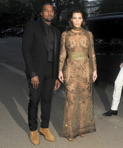 Kim Kardashian in Cavalli at the Vogue 100 London event: tragic or sexy?