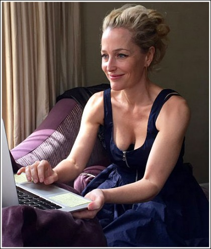 Gillian Anderson Drops Some Serious Cleavage