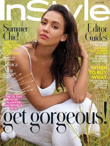 Jessica Alba is Summertime Sexy on July 2016 Cover of InStyle