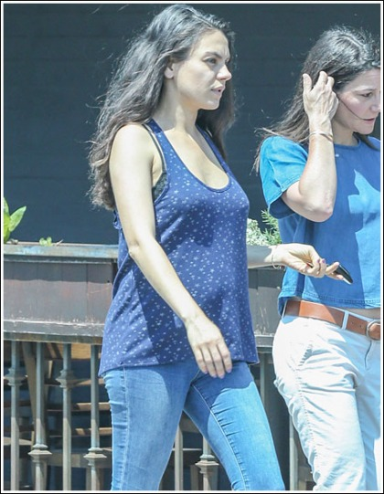 Pregnant Mila Kunis Drops Some Plentiful Cleavage