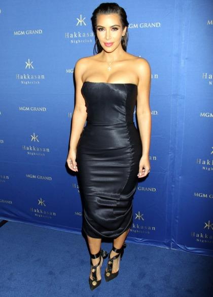 Kim Kardashian in vintage satin Galliano in Las Vegas: righteous or awful?
