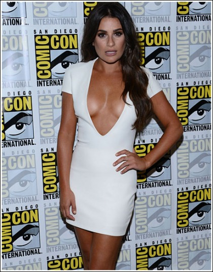 Lea Michele Won Comic-Con With A Drool-Inducing Display Of Her Braless Cleavage' WOW!
