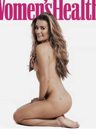 Lea Michele Bare Ass in Women's Health UK September 2016