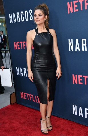 Maria Menounos Leather Dress at Narcos Season 2 premiere in Los Angeles