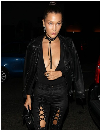 Bella Hadid Drops Some Seriously Sexy Braless Cleavage