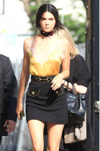 Kendall Jenner Leggy at Jimmy Kimmel Live in Hollywood