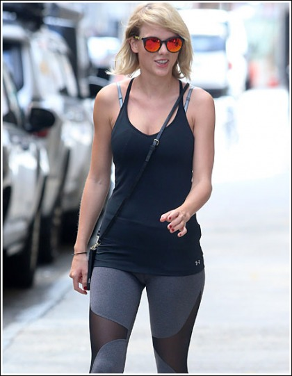 Taylor Swift Gets Damn Sexy In Insanely Tight Leggings!