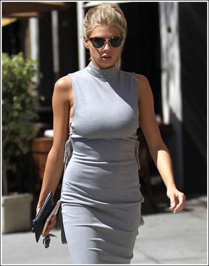Charlotte McKinney Busting Out Like Bananas In A Skin-Tight Dress