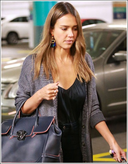 Jessica Alba Flashes Some Sexy Plentiful Cleavage