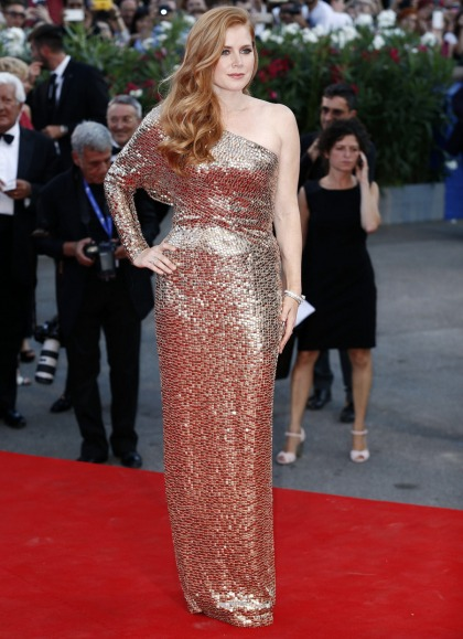 Amy Adams in gold Tom Ford at the Venice Film Festival: gorgeous or meh?