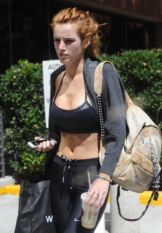 Bella Thorne Tight Body Heading to the Gym in Beverly Hills