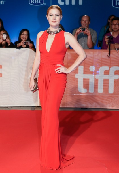 Amy Adams' TIFF style features Tom Ford, chunky necklaces: cute'