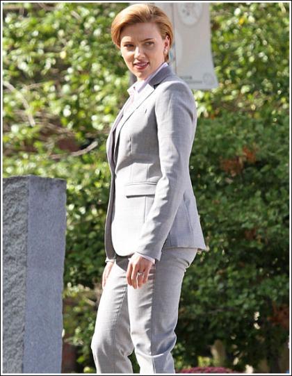 Scarlett Johansson Channels Hilary Clinton's Style, Still Looks Ridiculously Hot