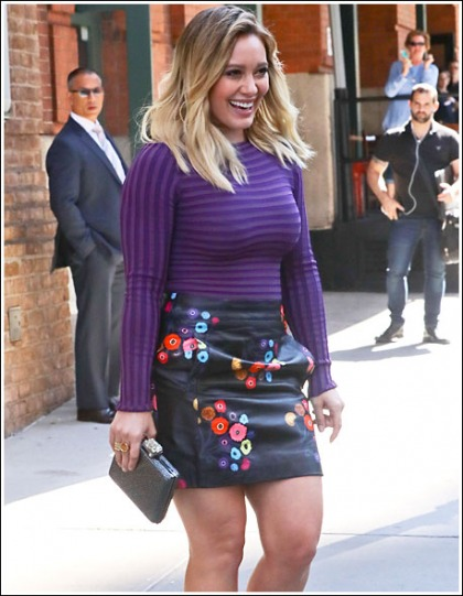 Hilary Duff Busting Out Like Bananas In A Revealing Little Top