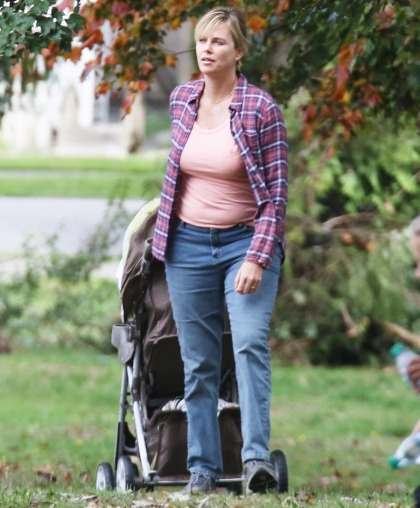 Did Charlize Theron gain a lot of weight for 'Tully' or is she wearing padding'