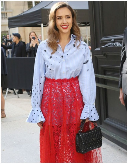 Giddy Up With Jessica Alba At Paris Fashion Week