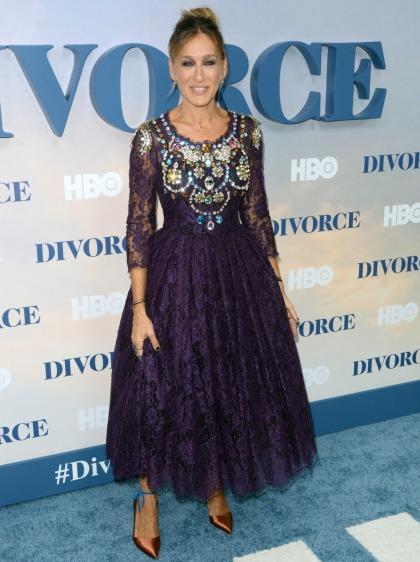 Sarah Jessica Parker in a rhinestone?d Dolce & Gabbana: awful, cheap or fine?