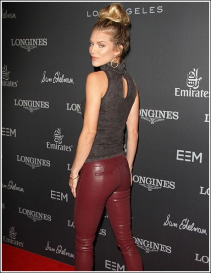 AnnaLynne McCord Gets Bootylicious In Skin-Tight Leather Pants