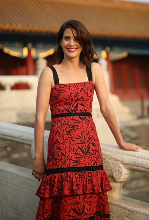 Cobie Smulders at Jack Reacher: Never Go Back Photocall at the Forbidden City in Beijing