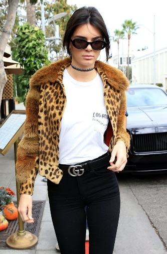 Kendall Jenner Wears Gucci and Louis Vuitton in Beverly Hills