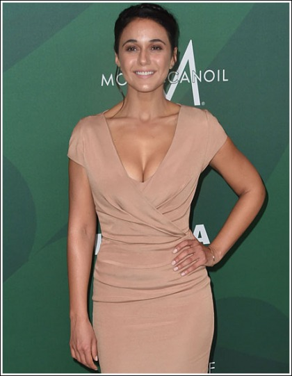 Emmanuelle Chriqui Busts Out Her Massive And Perfect Cleavage