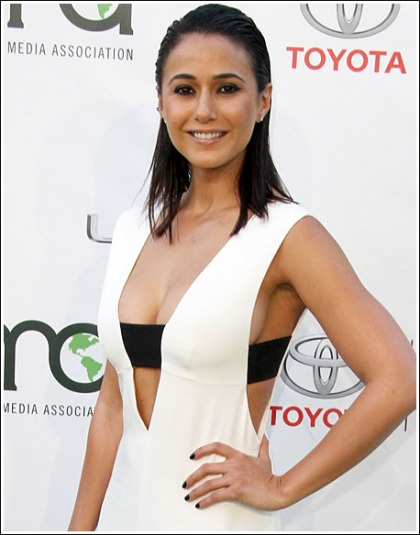 Emmanuelle Chriqui Drops Some Seriously Sexy/Perfect/Braless Cleavage' WOW!
