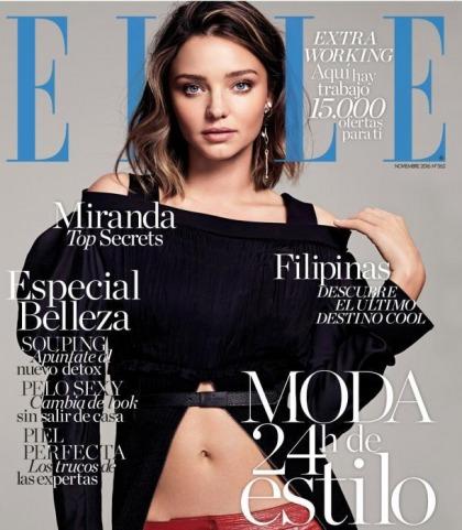 Miranda Kerr's Sexy Midriff For Elle