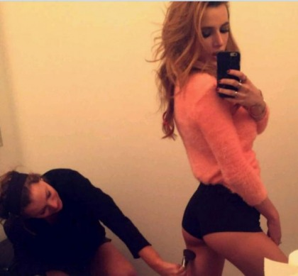 Bella Thorne's Booty And Tongue Action